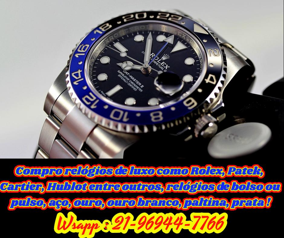 9841e42e929 Compro  Relógios de  Luxo como  Rolex